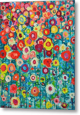 Abstract Garden Of Happiness Metal Print by Ana Maria Edulescu