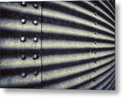 Abstract Grain Silo Metal Print by Thomas Zimmerman