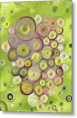 Abstract Grapes Metal Print by Veronica Minozzi
