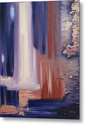 Metal Print featuring the painting Abstract I by Donna Tuten