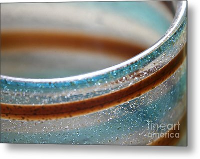 Metal Print featuring the photograph Abstract In Glass  by Lynn England