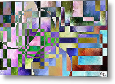 Metal Print featuring the painting Abstract In Lavender by Curtiss Shaffer