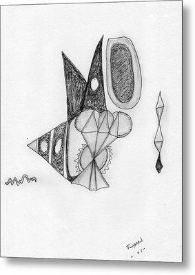 Abstract In Pencil Metal Print by Dan Twyman