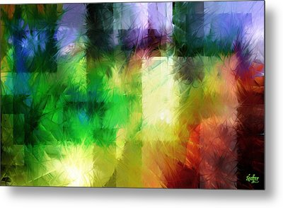 Metal Print featuring the painting Abstract In Primary by Curtiss Shaffer