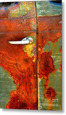 Abstract In Rust 24 Metal Print