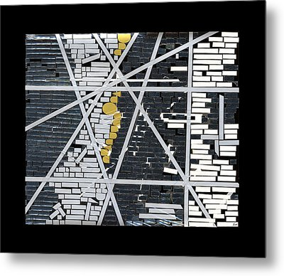 Abstract In Tape And Letterforms 5 Metal Print by Agustin Goba