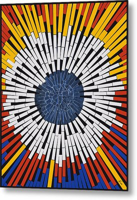 Abstract In Tape - Starburst Metal Print by Agustin Goba