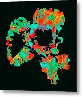 Abstract Iris Metal Print by James Hammen