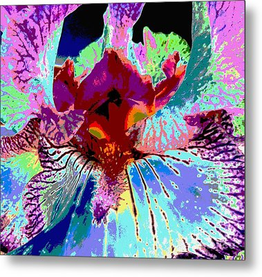 Metal Print featuring the photograph Abstract Iris by Sally Simon