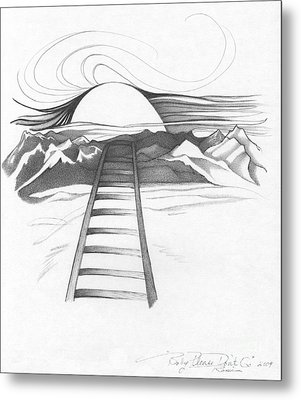 Abstract Landscape Art Black And White Baby Please Don't Go By Romi Metal Print