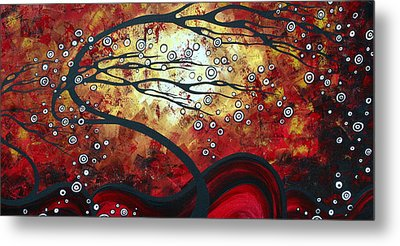 Abstract Landscape Art Original Painting Where Dreams Are Born By Madart Metal Print by Megan Duncanson