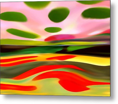 Abstract Landscape Of Happiness Metal Print