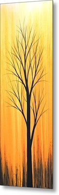 Abstract Landscape Original Trees Art Print Painting ... Twilight Trees #2 Metal Print by Amy Giacomelli