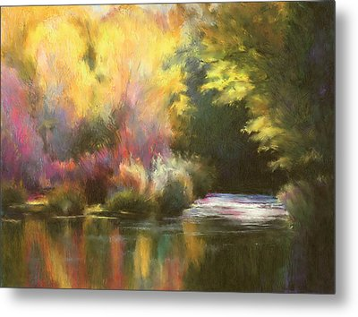 Abstract Landscape Metal Print by Renee Skiba