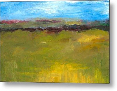 Abstract Landscape - The Highway Series Metal Print