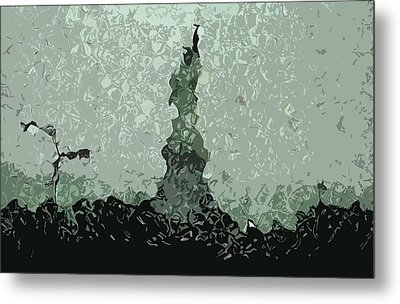 Abstract Liberty On 9/11 Metal Print