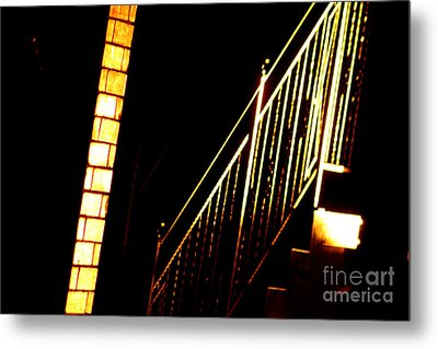 Abstract Light Metal Print