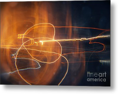 Abstract Light Streaks Metal Print by Pixel Chimp