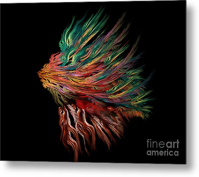 Abstract Lion's Head Metal Print