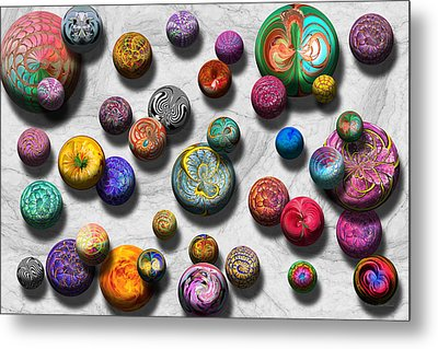 Abstract - Marbles Metal Print by Mike Savad