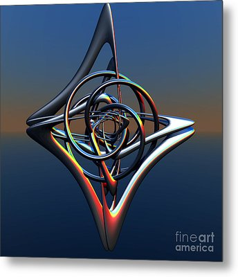 Metal Print featuring the digital art Abstract Metal by Melissa Messick