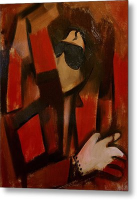 Abstract Cubism Michael Jackson Art Print Metal Print
