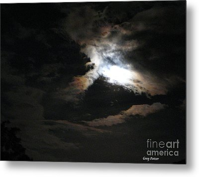 Abstract Moon Metal Print by Greg Patzer