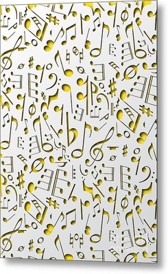 Abstract Music Poster Metal Print