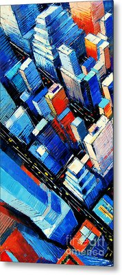 Abstract New York Sky View Metal Print by Mona Edulesco