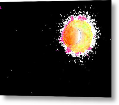 Abstract Of Eclipse Metal Print
