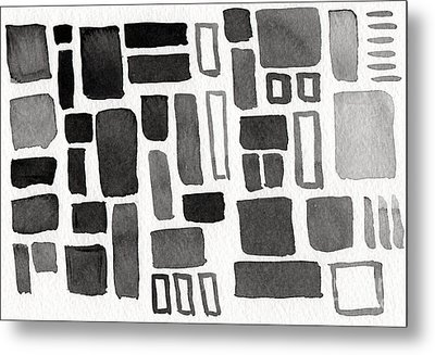 Abstract Open Windows Metal Print by Linda Woods