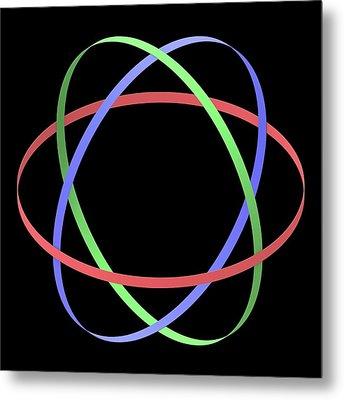 Abstract Orbit Circles Metal Print by Alfred Pasieka