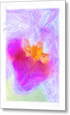 Abstract Orchid Pastel Metal Print by Antony McAulay