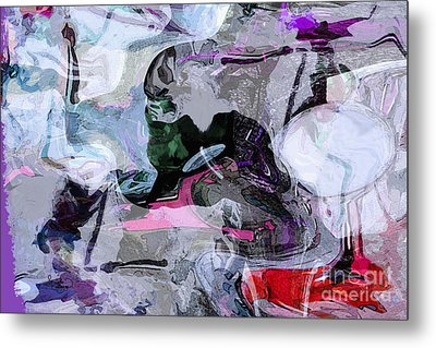 Abstract Organic Intuitive # 11 Metal Print by Ginette Callaway