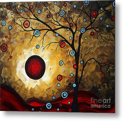 Abstract Original Gold Textured Painting Frosted Gold By Madart Metal Print by Megan Duncanson