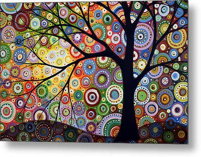 Abstract Original Modern Tree Landscape Visons Of Night By Amy Giacomelli Metal Print