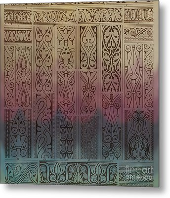 Abstract Ornamental Motif With Absratct Mood Metal Print