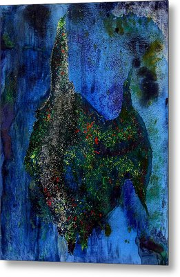 Abstract Painting Of Angelfish Metal Print by Mario Perez
