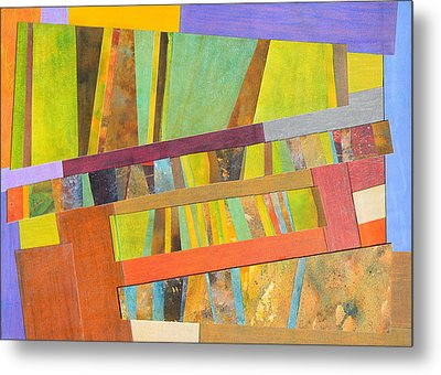 Abstract Paper Collage No 2 Metal Print by Adel Nemeth