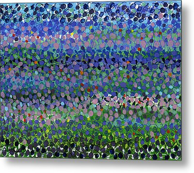 Abstract Patterns Four Metal Print by Lynne Taetzsch
