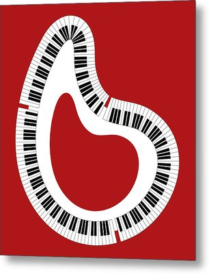 Abstract Piano Metal Print by Frank Tschakert