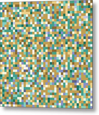 Abstract Pixels Metal Print by Mike Taylor