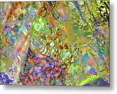 Abstract Polarised Light Micrographs Metal Print
