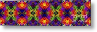 Abstract - Rainbow Connection - Panel - Panorama - Vertical Metal Print by Andee Design
