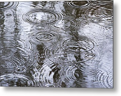 Abstract Raindrops Metal Print by Christina Rollo