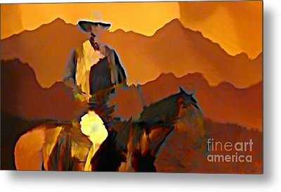 Abstract Range Riding Metal Print by John Malone