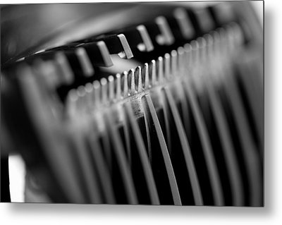 Abstract Razor Metal Print by Mike Taylor