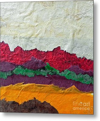 Abstract Red Hills Metal Print