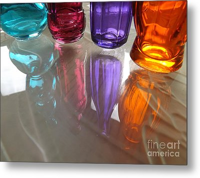 Abstract Reflections #4 Metal Print by Robyn King