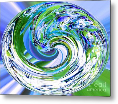 Abstract Reflections Digital Art #3 Metal Print by Robyn King